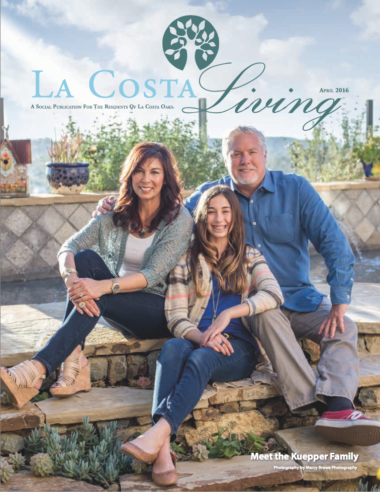 Family Living Magazine La Costa Living Magazine  Kuepper Family  Marcy Browe
