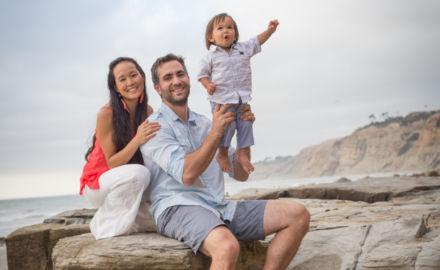 Scripps Pier family portrait session