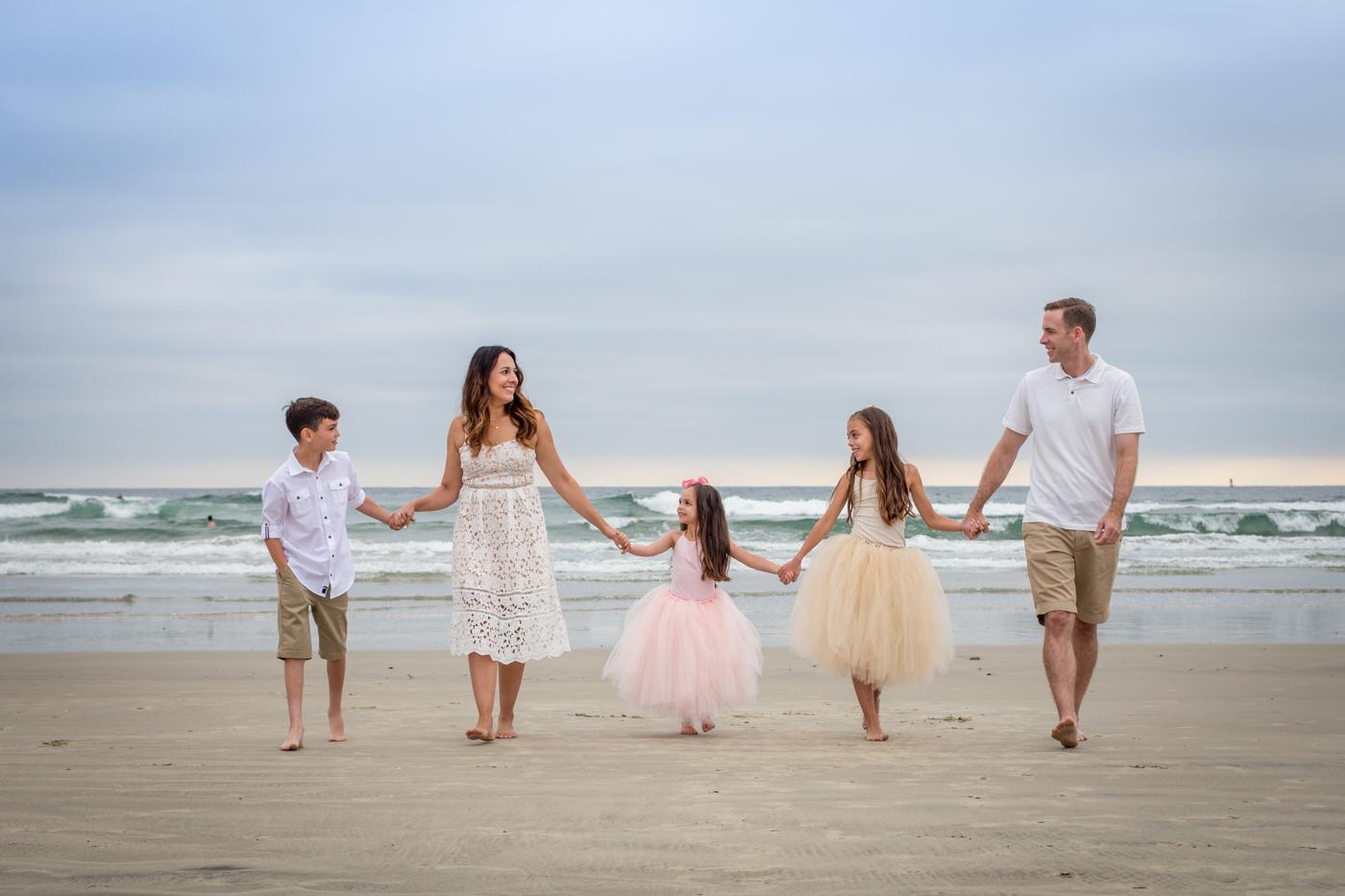Oceanside beach family photo