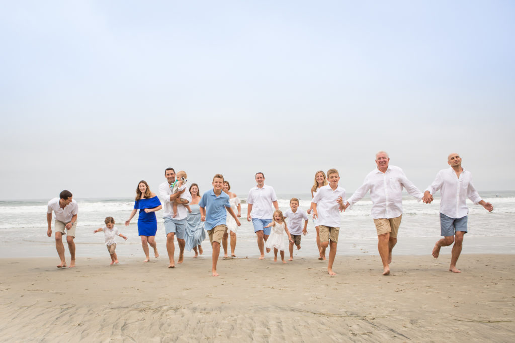 family photos taken at Moonlight Beach in Encinitas by a professional photographer in San Diego and Oceanside.